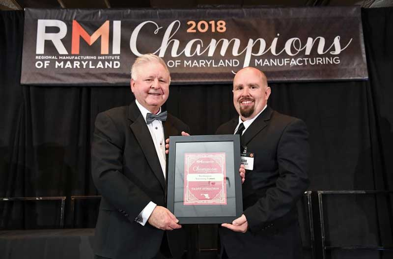 Our WAVE facility in Aberdeen, MD was recognized as a 2018 Talent Attraction Champion by the RMI of Maryland.